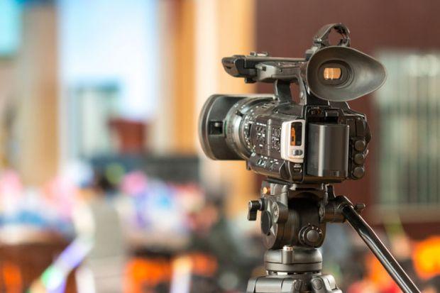 Digital video camera recording footage