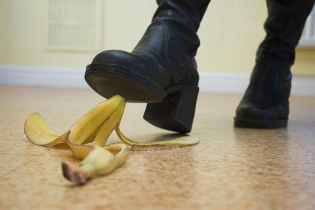 Banana skin, pitfall, risk