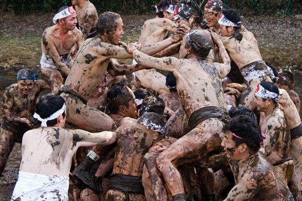 Japanese mud wrestling