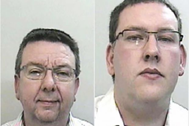 Robert Smedley, left, and Christopher Joynson were both jailed for five years