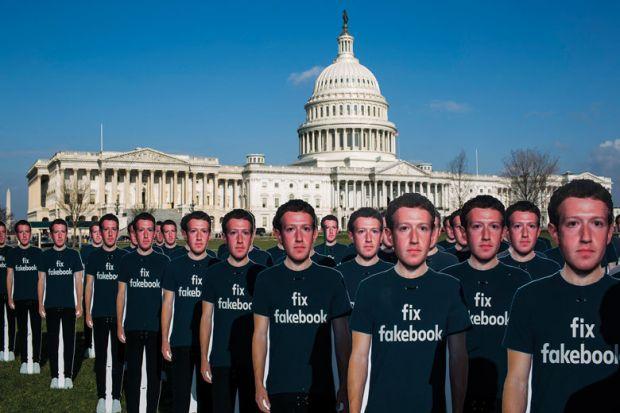 Crowd of Mark Zuckerbergs at White House