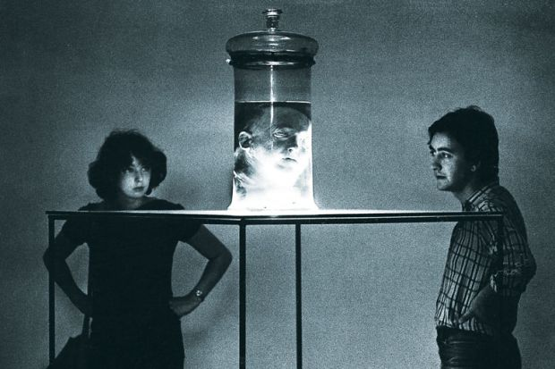 A couple viewing the head of Italian criminologist Cesare Lombroso preserved in a jar as a metaphor for academics need to think far more carefully about how they define and police the boundaries between legitimate and illegitimate knowledge